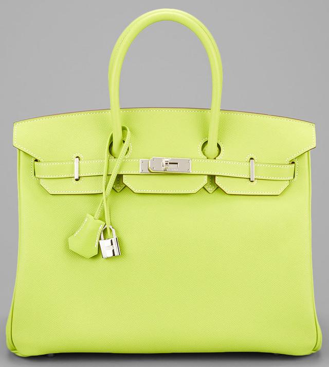 Hermes Birkin Candy Green Epsom 35cm