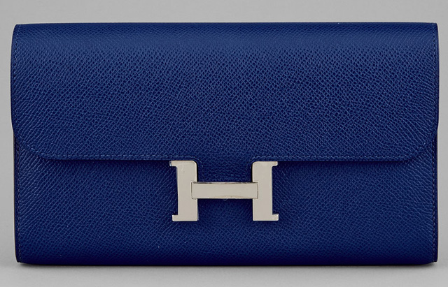 Hermes Constance Clutch Blue Epsom Leather