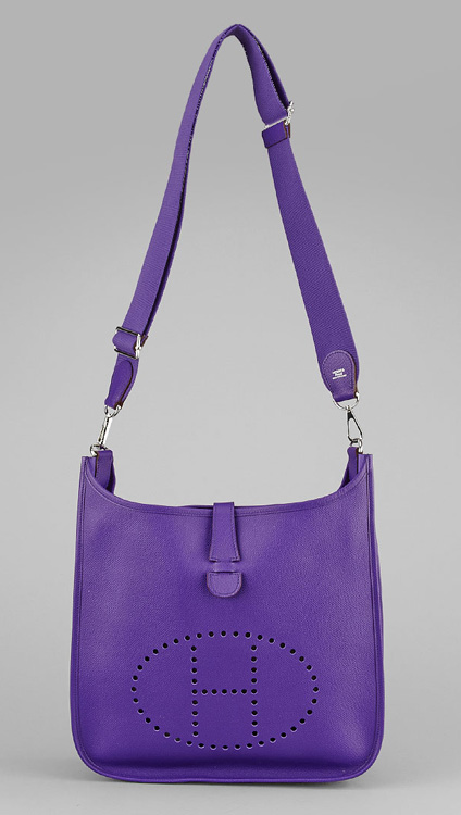Hermes Evelyne GM III Iris Epsom Leather