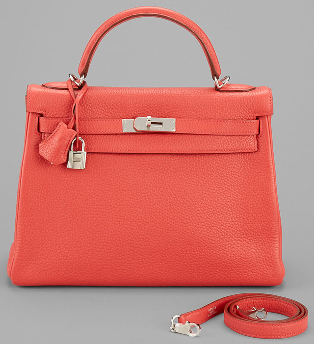 Hermes Kelly Pink Clemence Leather
