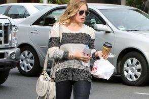 Hillary Duff carries a Chloe Marcie Crossbody Bag in Beverly Hills (5)