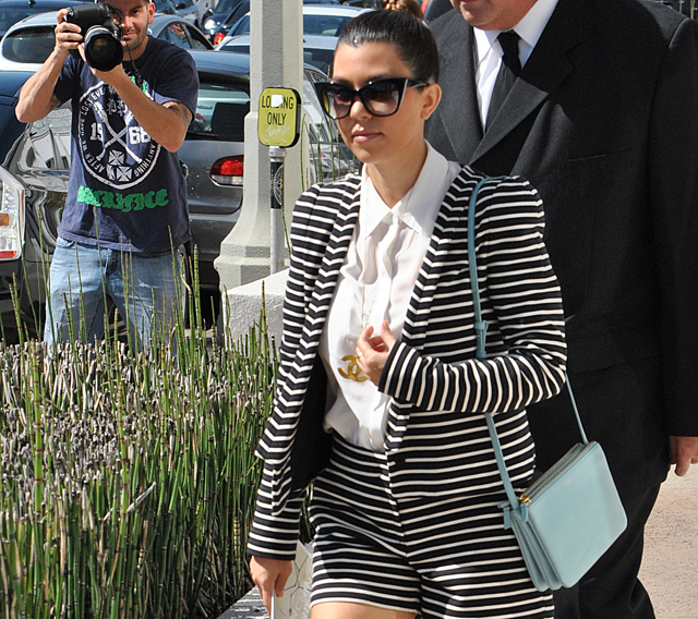 Kourtney Kardashian carries a baby blue Celine Trio Bag (5)
