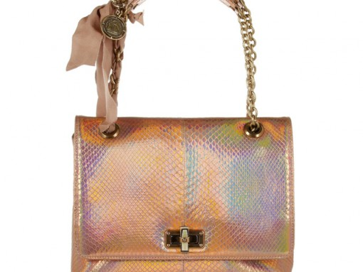 807565b0a0 Lanvin Happy Holographic Python Shoulder Bag