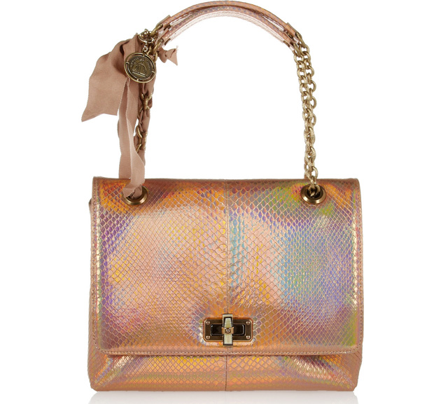Lanvin Happy Holographic Python Shoulder Bag