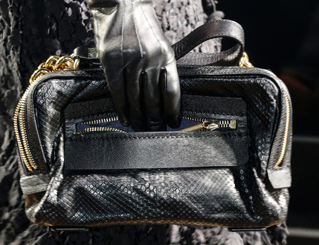 Lanvin Snakeskin Shoulder Bag