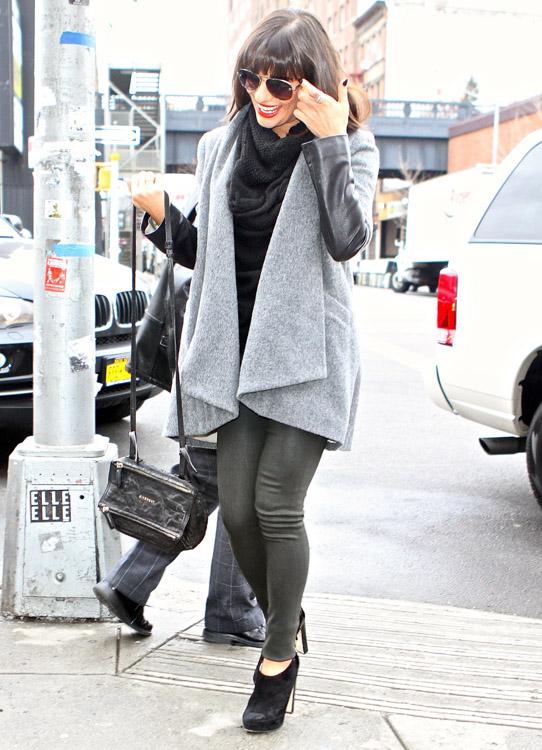 94441e9aaa4d Lea Michelle carries a black Givenchy Mini Pandora Bag in NYC (2 ...