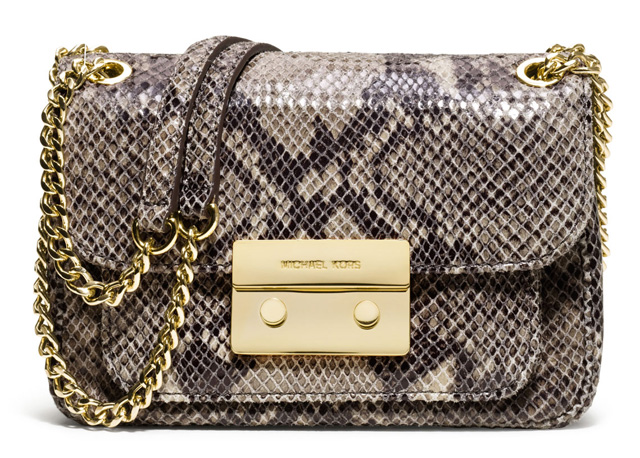 MICHAEL Michael Kors Small Sloan Snake-Embossed Shoulder Bag