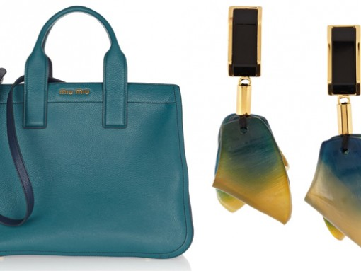 Miu Miu Tote Bag and Marni Resin Earrings