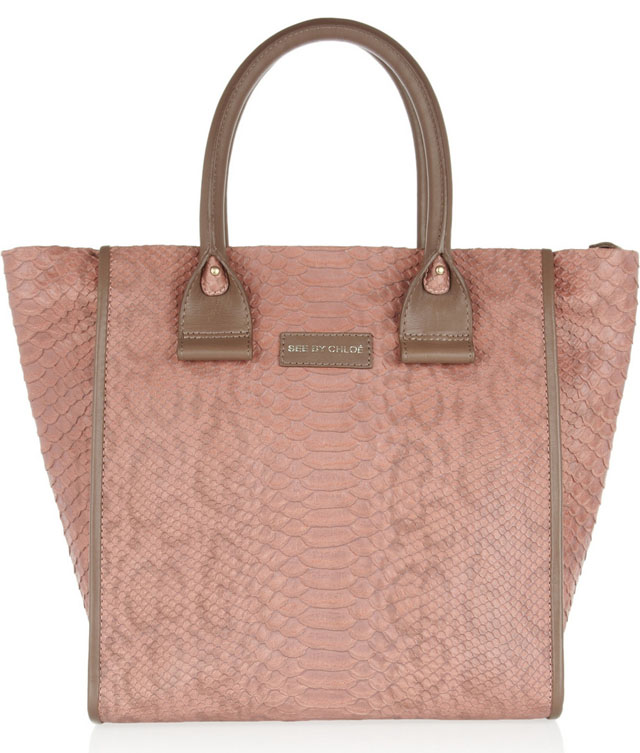 See by Chloe April Snake-Embossed Tote