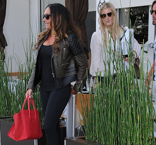 Tamara Ecclestone carries a pink Celine Phantom Luggage Tote in Beverly Hills (5)