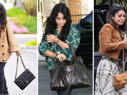 The Many Bags of Vanessa Hudgens