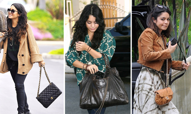 The Many Bags of Vanessa Hudgens
