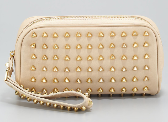 Tory Burch Pyramid Stud Clutch Bag