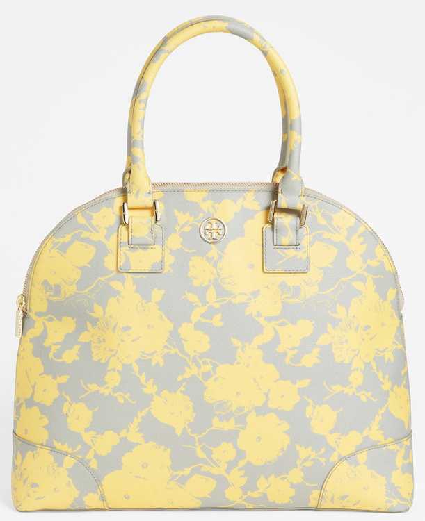 Tory Burch Robinson Canvas Dome Satchel