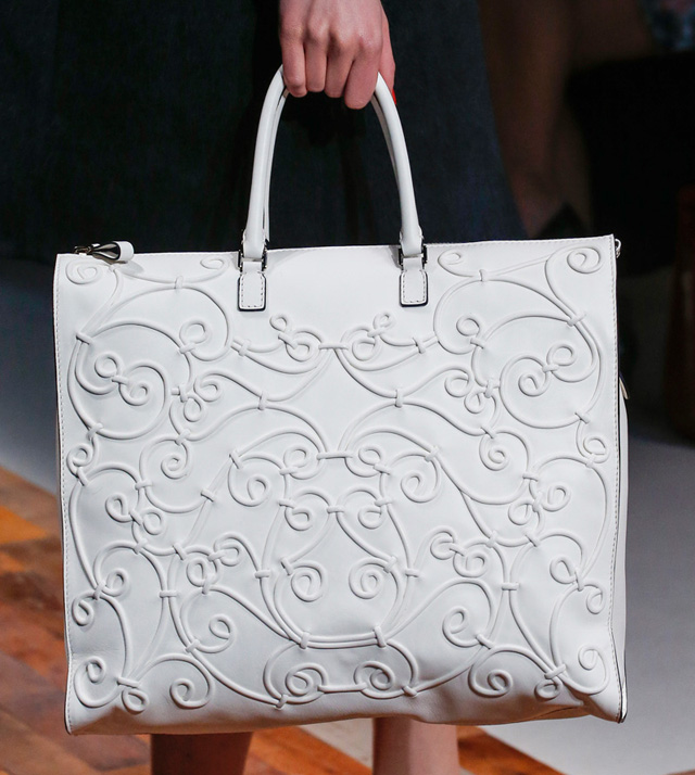 Valentino Fall 2013 Embellished White Tote