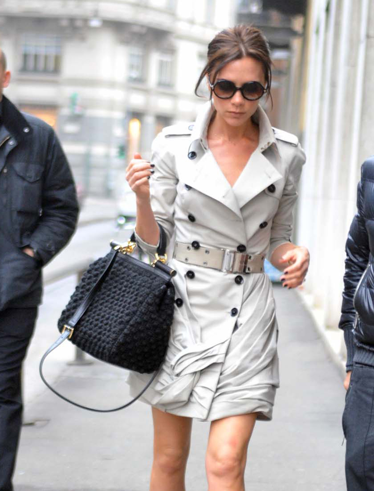 Victoria Beckham Dolce And Gabbana Crochet Sicily Bag