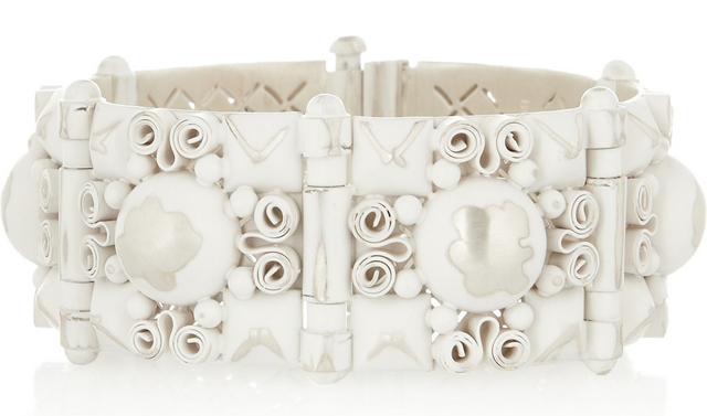 Bottega Veneta Enamled Sterling Silver Bracelet