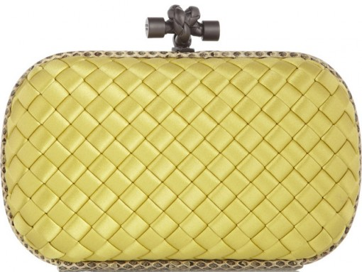 Bottega Veneta Satin Knot Clutch