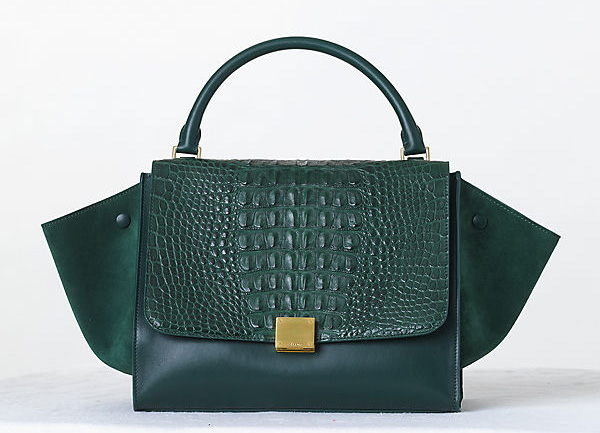 Celine Crocodile Trapeze Bag Fall 2013