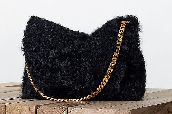 Celine Gourmette Shoulder Bag Fur Fall 2013