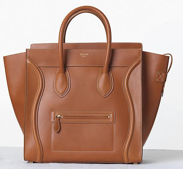 Celine Vegetal Leather Luggage Tote Fall 2013