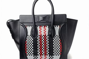 Celine Woven Luggage Tote