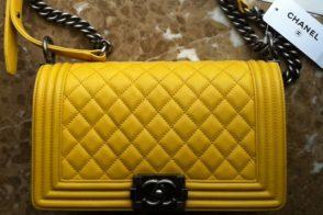 Chanel Boy Bag Yellow