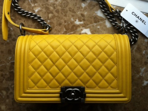 Chanel Boy Bag Yellow