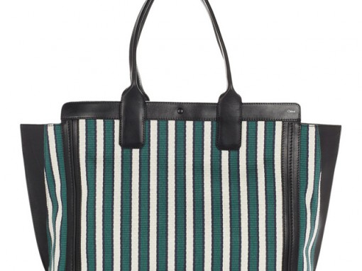 Chloe Alice Cotton and Leather Shopper