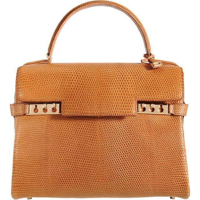 Delvaux Tempete MM Lizard Bag
