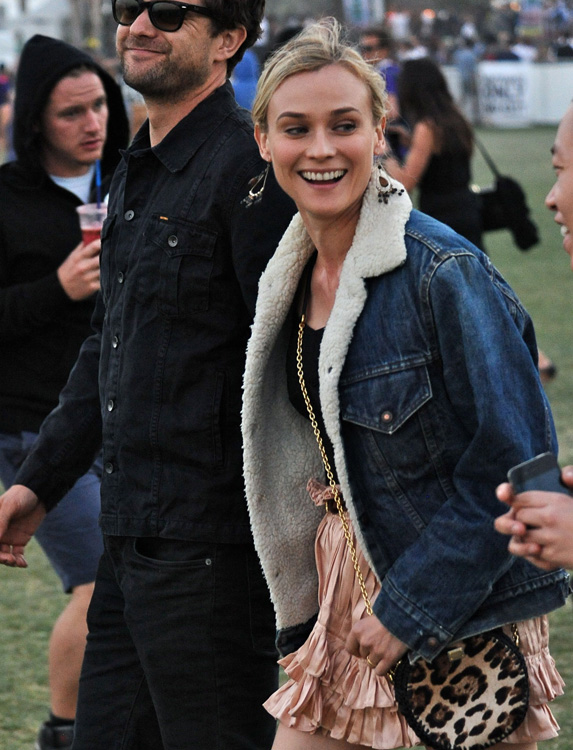 Diane Kruger Dolce and Gabbana Leopard Bag Coachella