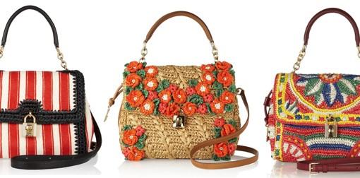 Dolce & Gabbana Miss Dolce Raffia Bags