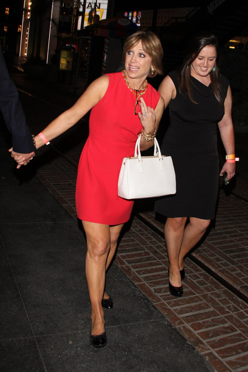 "Dorothy Hamill carries a white Prada Saffiano Luxe Tote to an after-party for ""Dancing with the Stars"" (4)"