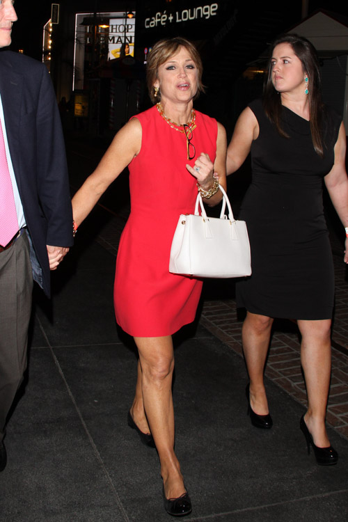 "Dorothy Hamill carries a white Prada Saffiano Luxe Tote to an after-party for ""Dancing with the Stars"" (3)"