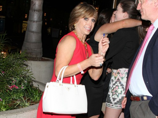 "Dorothy Hamill carries a white Prada Saffiano Luxe Tote to an after-party for ""Dancing with the Stars"" (5)"