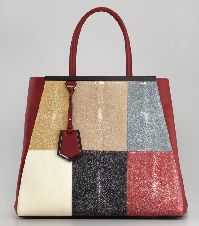 Fendi 2Jours Stingray Large Tote