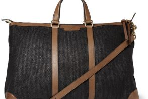 Man Bag Monday: Gucci Leather and Raffia Holdall