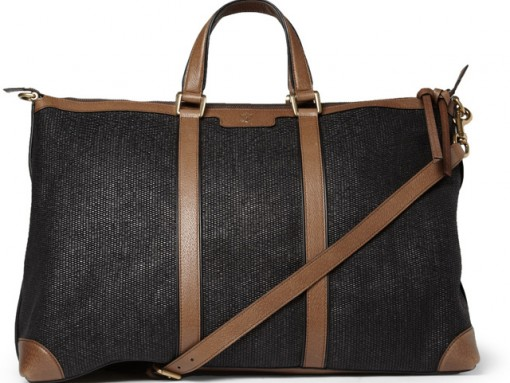 Gucci Raffia and Leather Holdall