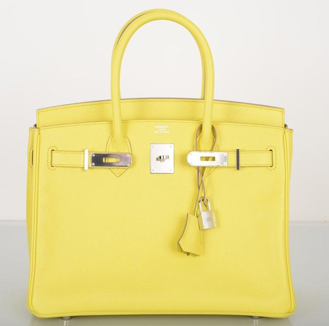 Hermès Lime Soufre Epsom 30cm Birkin Bag