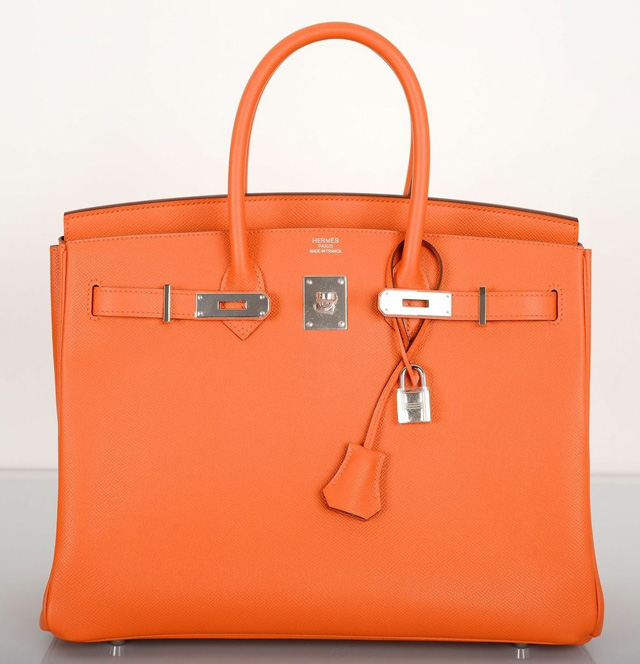Hermès Mangue Orange Epsom 35cm Birkin Bag