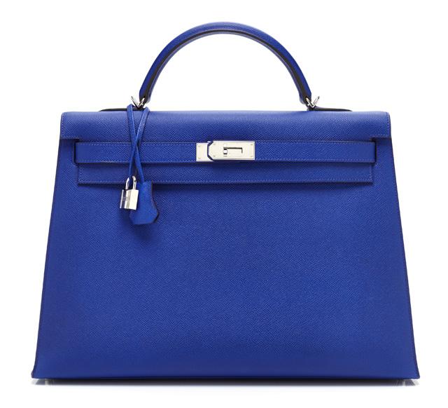 Hermes Blue Kelly Bag