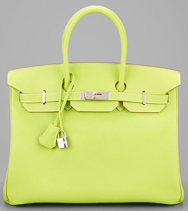 Hermes Candy Green Epsom 35cm Birkin Bag