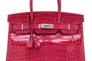 Hermes Crocodile Birkin Pink