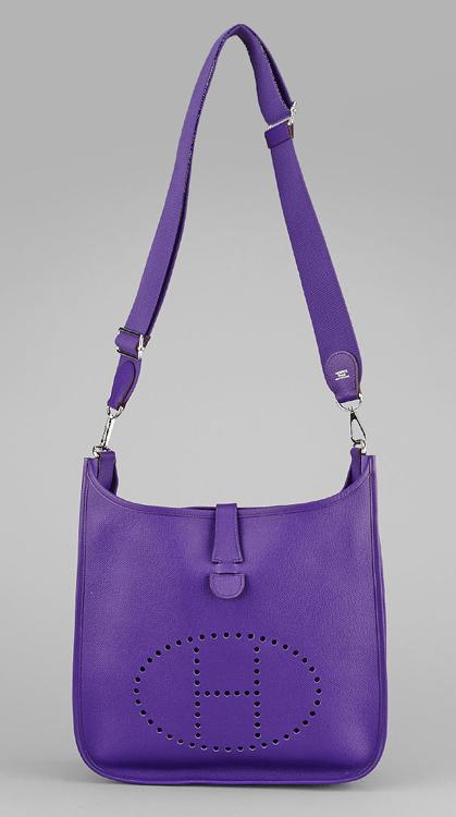 Hermes Iris Epsom Leather Evelyne GM III