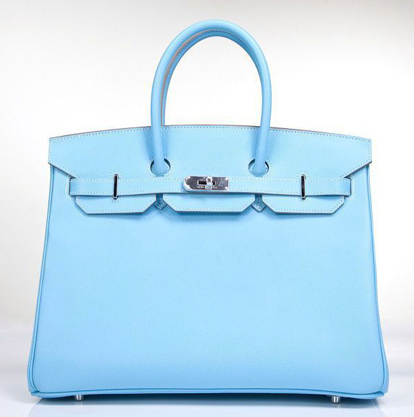 Hermes Limited Edition Celeste & Mykonos Candy Collection Epsom 35cm Birkin Bag