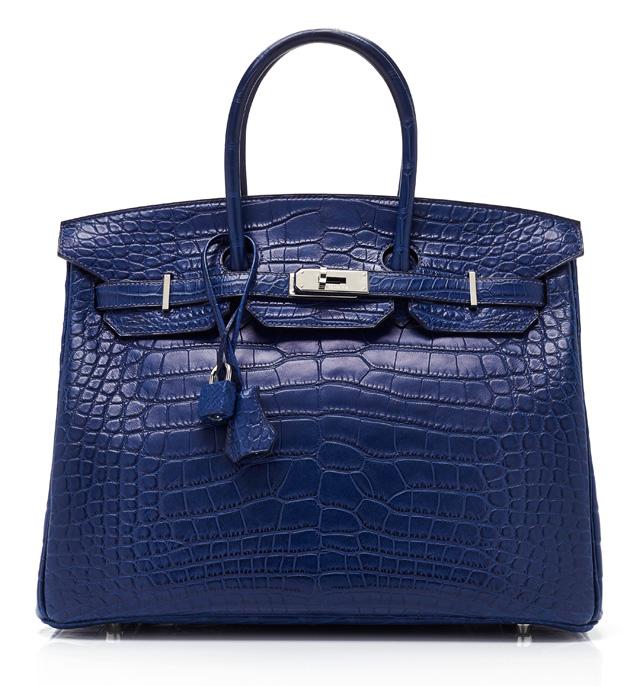 Hermes Matte Blue Crocodile Birkin