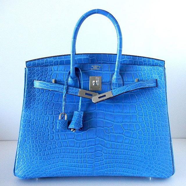 Hermes Mykonos Matte Alligator 35cm Birkin Bag