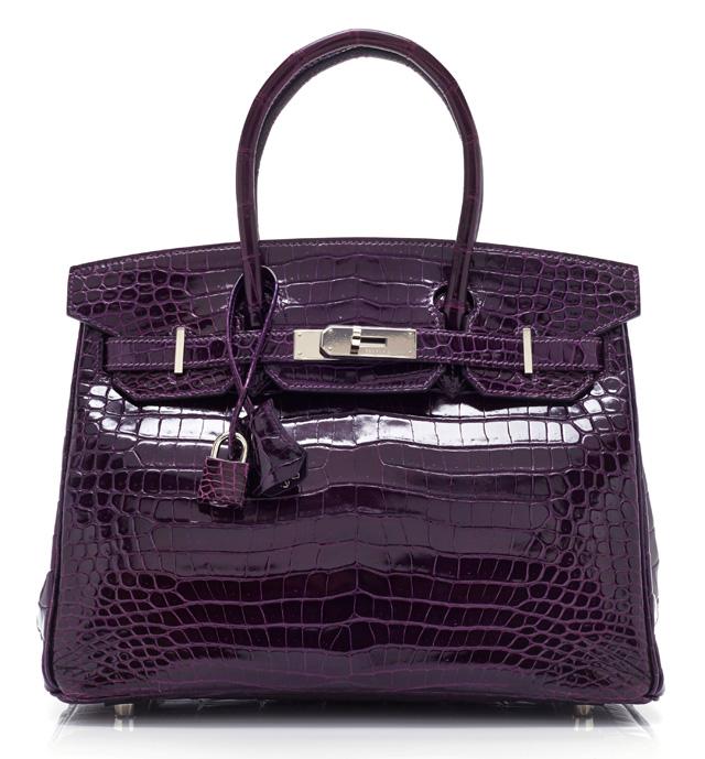 Hermes Purple Crocodile Birkin
