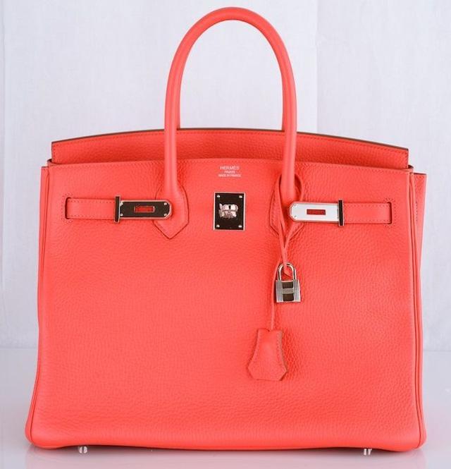 Hermes Rose Jaipur Clemence 35cm Birkin Bag