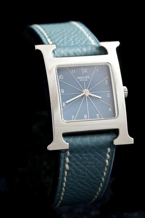 Hermes Stainless Steel H Hour Ladies Watch